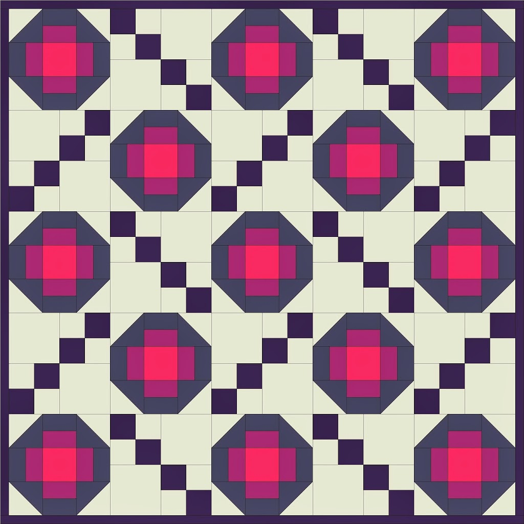 Free Quilt Pattern Friday Pansy A Little Crispy