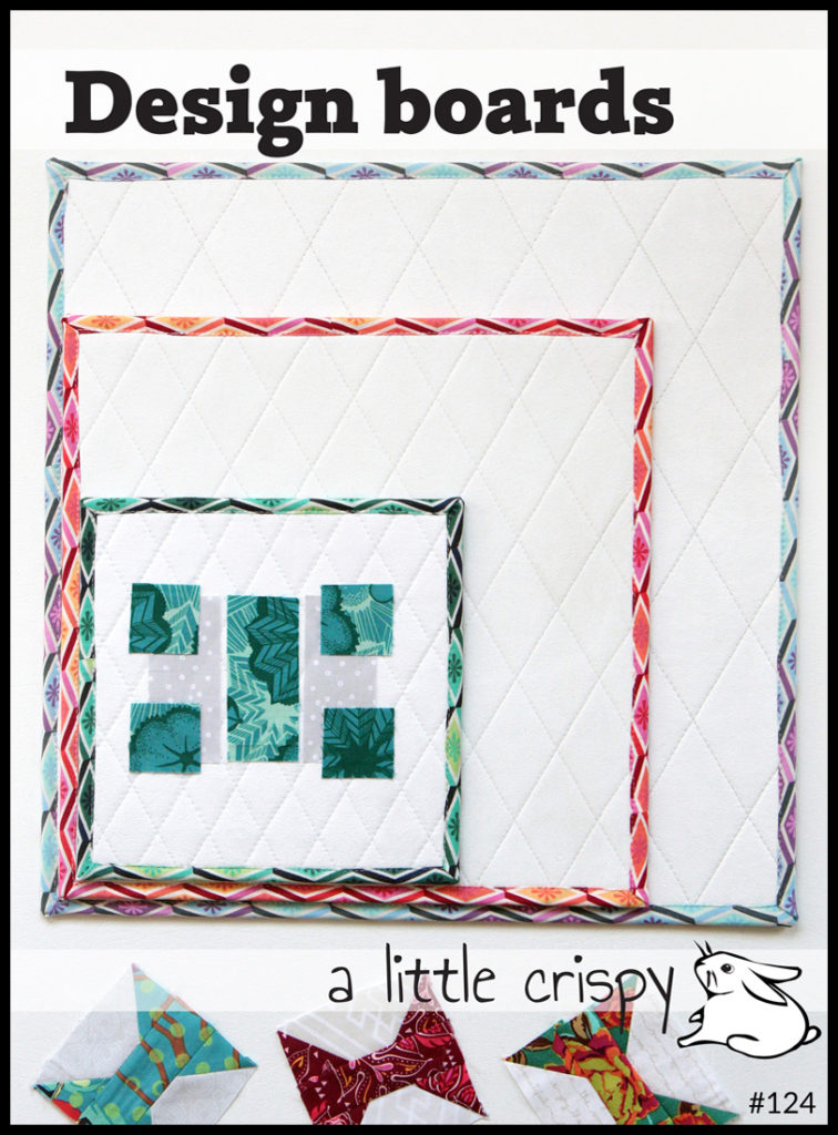 Things to bring to a quilt retreat: Design boards pattern