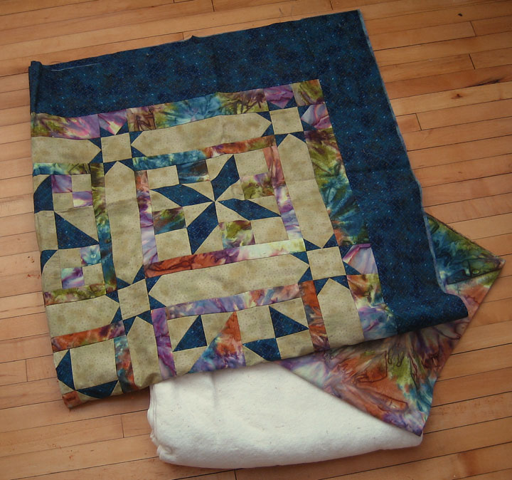 Changing a fabric's color after piecing a quilt