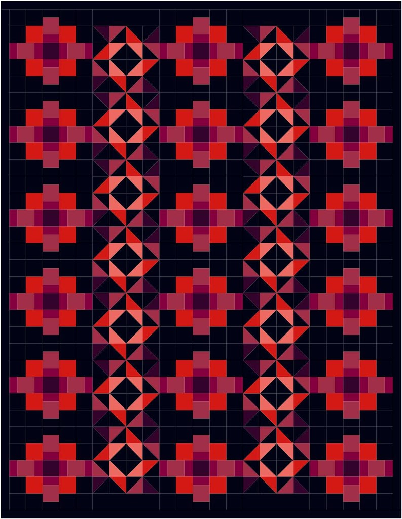 Free Quilt Pattern Friday! Pinwheel flower
