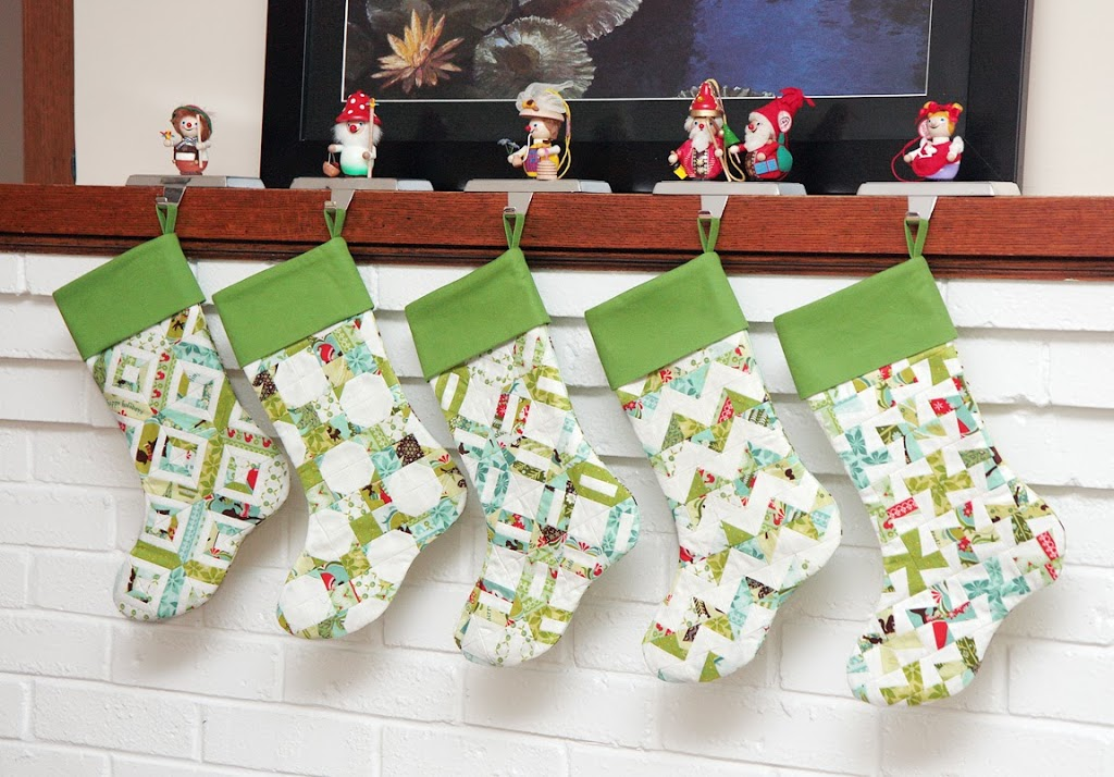 New pattern! Scrappy Christmas stockings