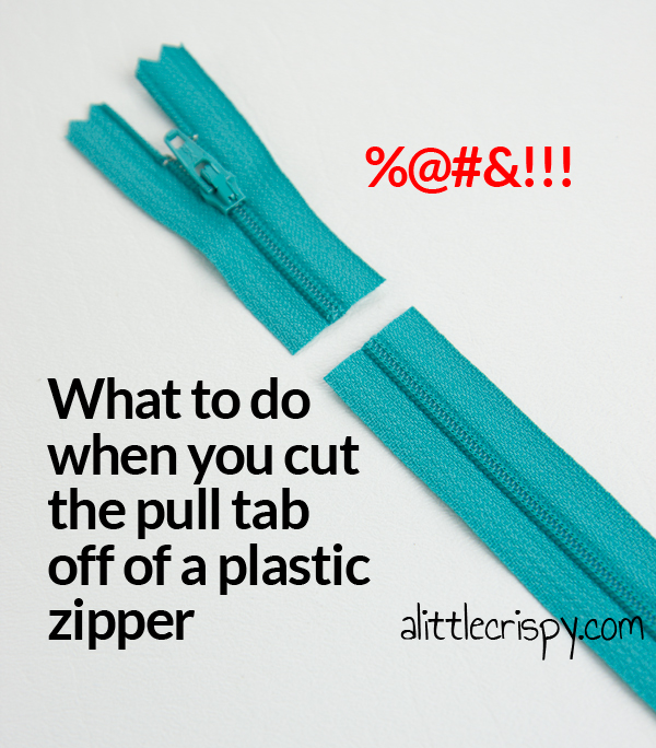 How to reattach a zipper pull after you've cut it off
