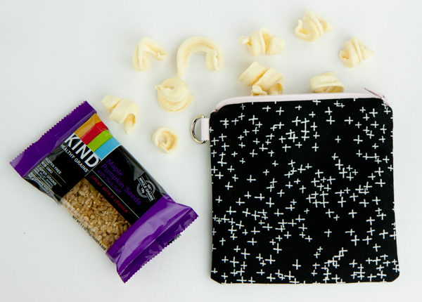 52 zippers #4: sewing a snack bag with PUL (Polyurethane Laminate)