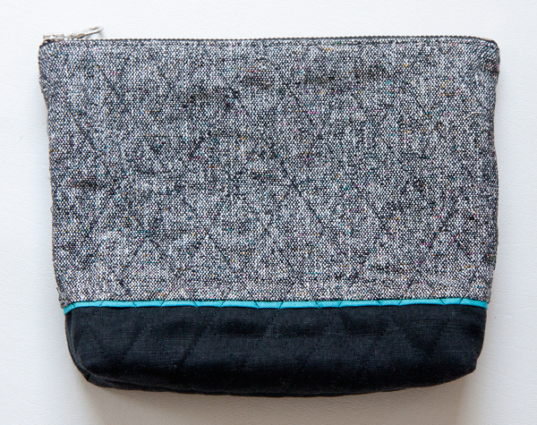 52 zippers #18: waxed linen and silk cosmetic bag