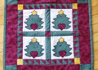 Christmas tree applique mini