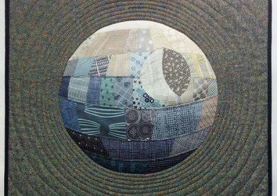 Death star mini quilt