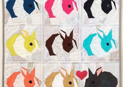 Bunny mini quilt