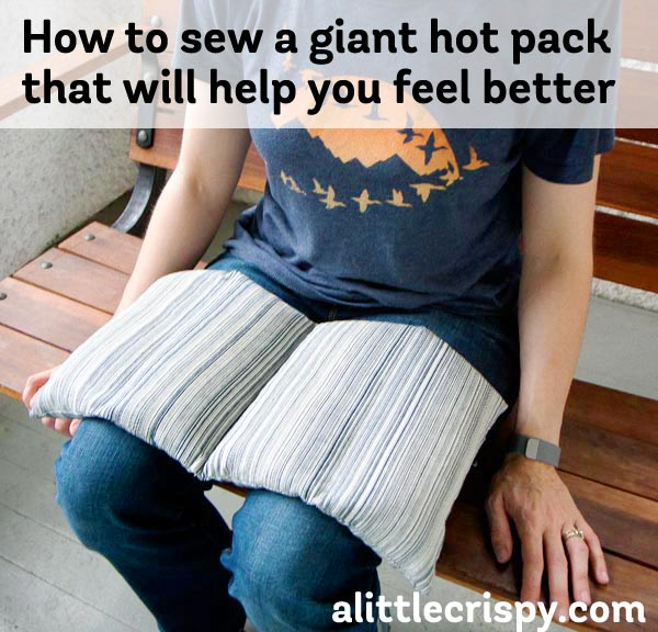 How to sew a large hot pack that will help you feel better