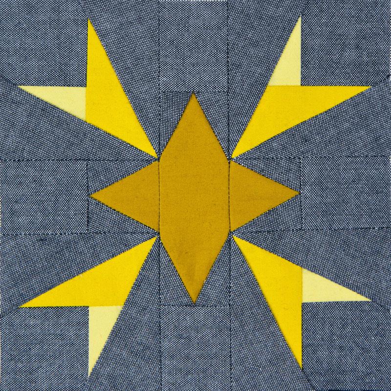 Lodestars quilt block #1: Maya