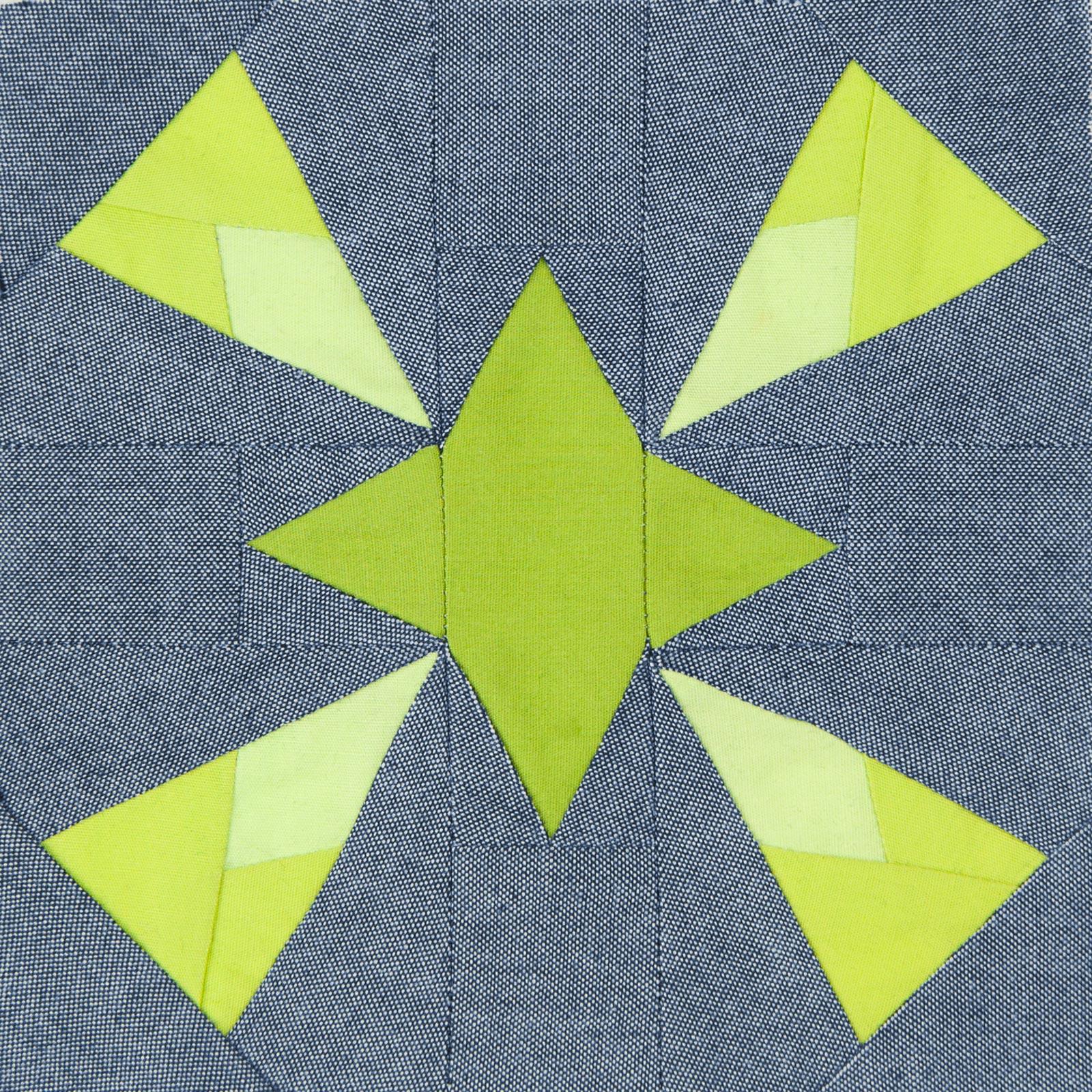 Lodestars quilt block #4: Dolores