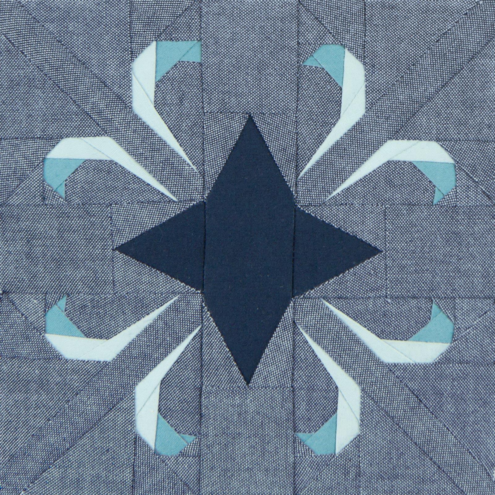 Lodestars quilt block #6: Rosa