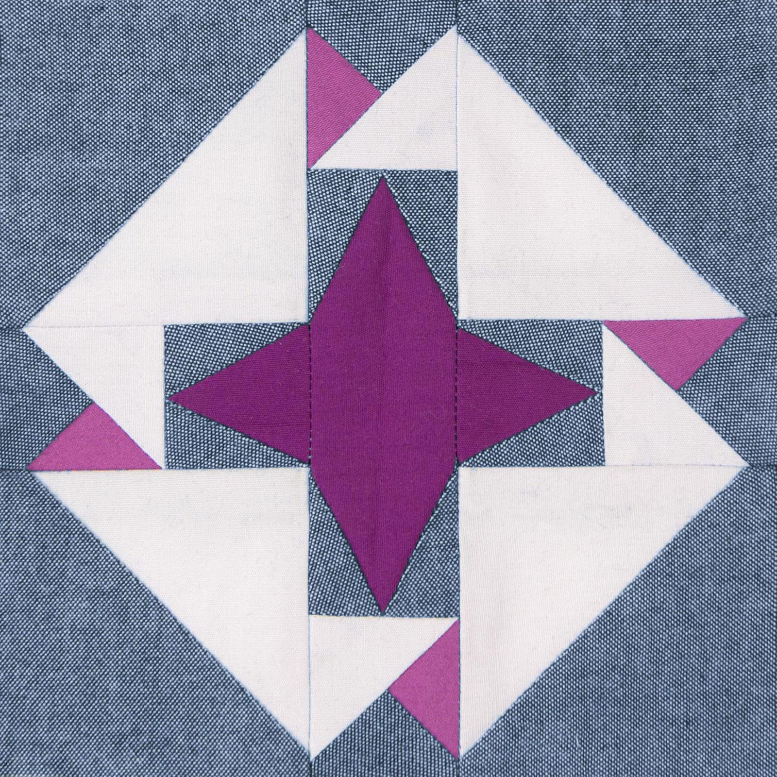 Lodestars quilt block #8: Dorothea
