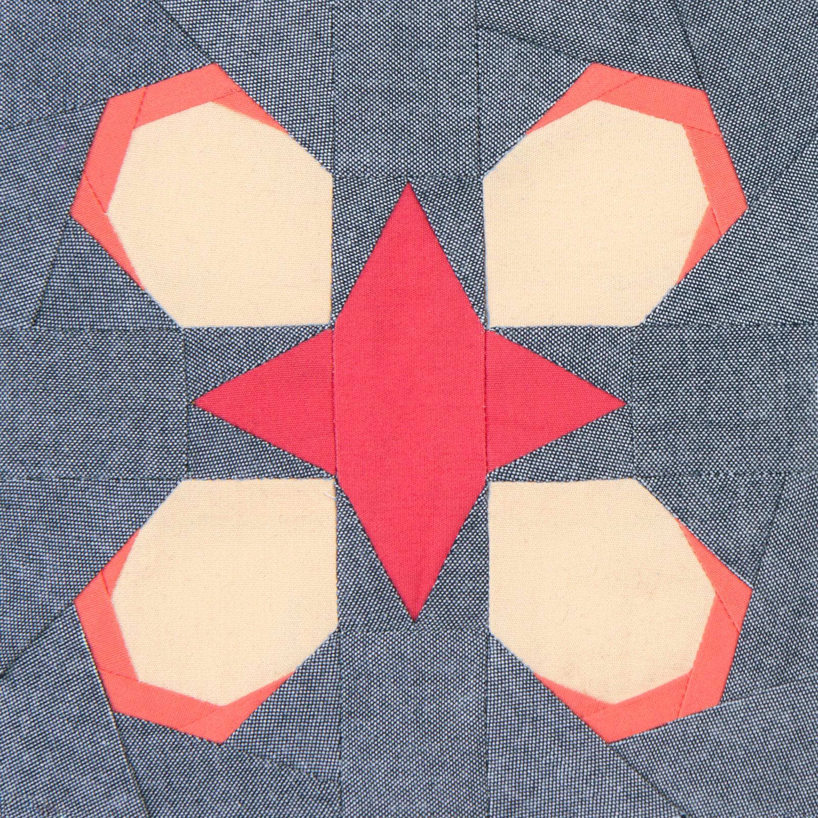 Lodestars quilt block #11: Zitkála-Šá