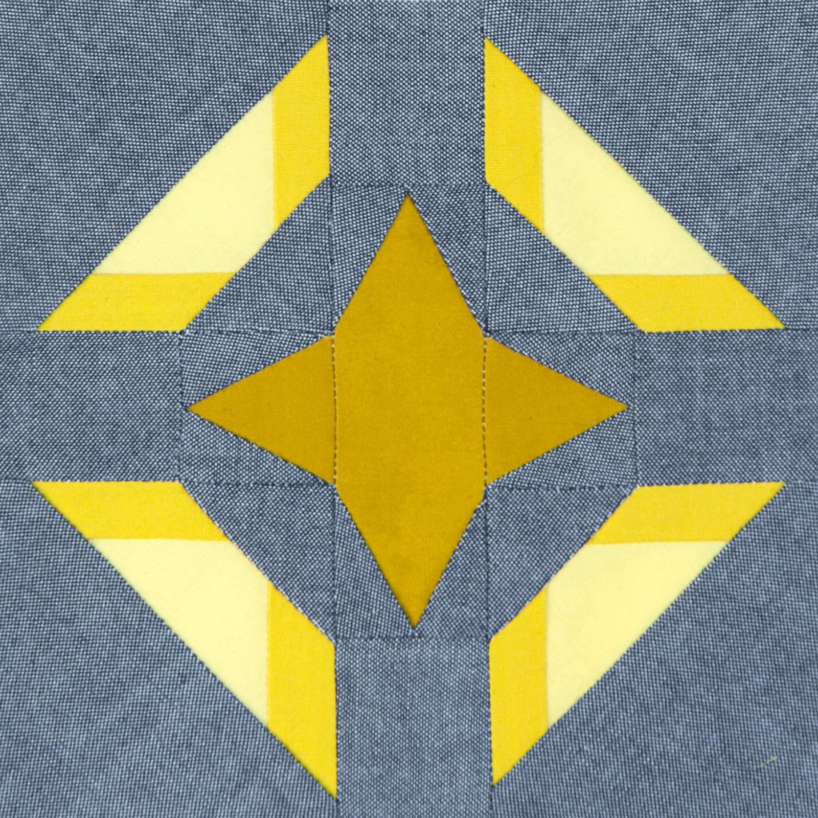 Lodestars quilt block #14: Elvia