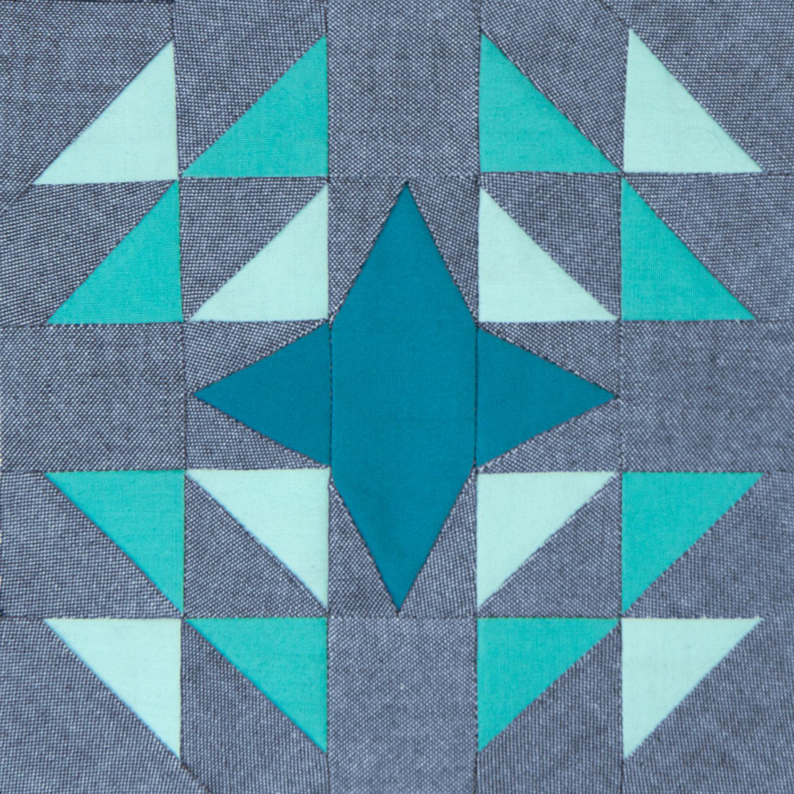 Lodestars quilt block #17: Marielle