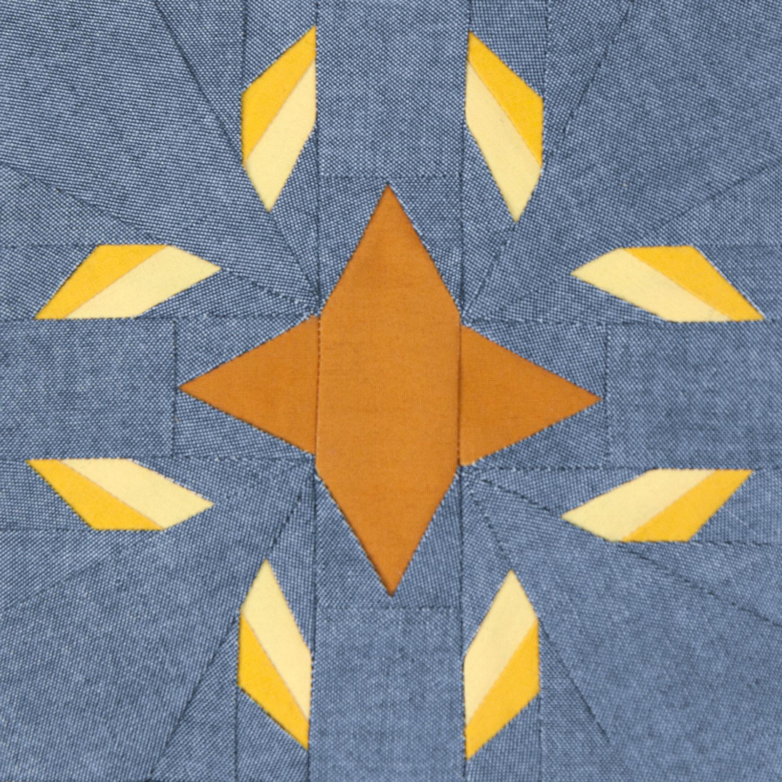 Lodestars quilt block #20: Yaa