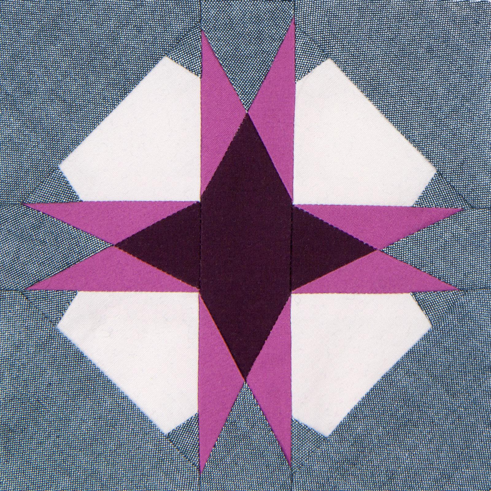 Lodestars quilt block #45: Asma